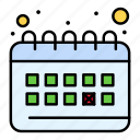 calendar, clock, planning, routine