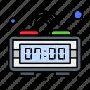 alarm, clock, digital, time