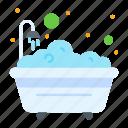 bath, bathroom, bathtub, shower
