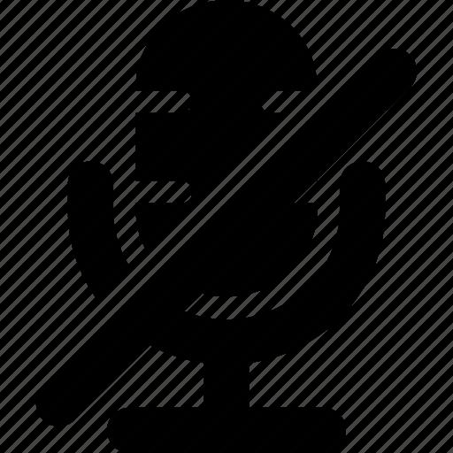 mic, mute, no voice, no-sound, silence icon