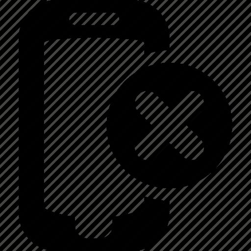 block, cancel, mobile, problem, remove icon