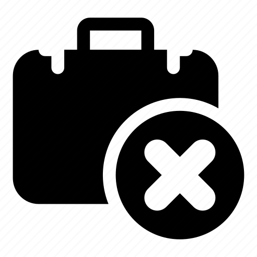 block, delete, documents, project, remove, suitcase icon