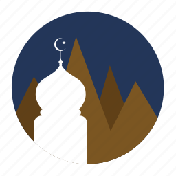 montain, mosque, muslim icon