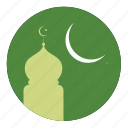 islamic, moon, mosque icon