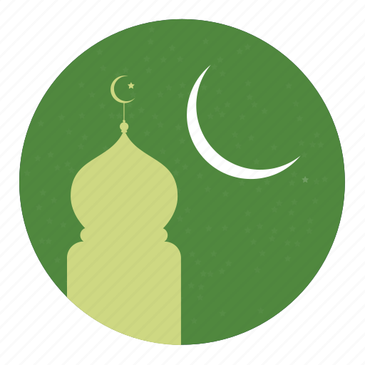 islamic, moon, mosque icon