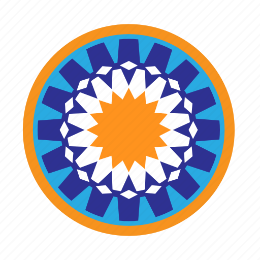 arabe, circle, maroc, mosaic icon