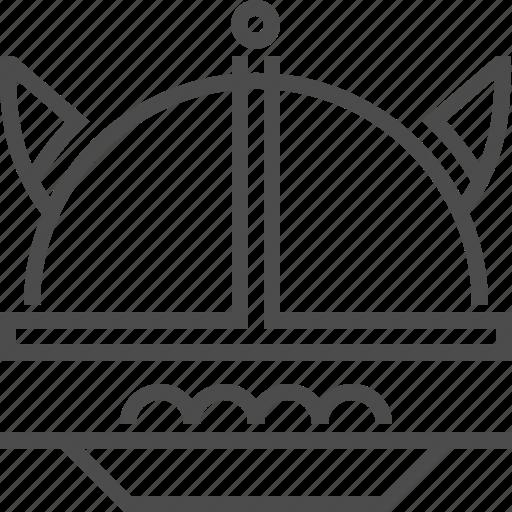 cuisine, culture, food, kitchen, meatball, swedish, viking helmet icon