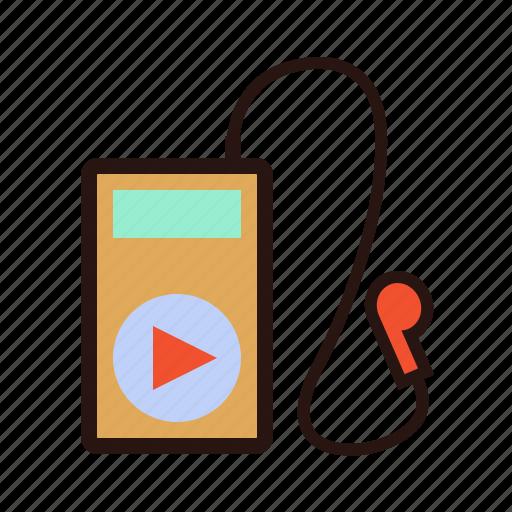 active lifestyle, headphones, ipod, listen, music, oldschool, player icon