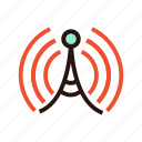 beacon, multimedia, radio, signal, wave, wifi icon