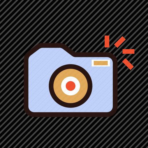 camera, capture, flash light, hipster, multimedia, old school, retro icon