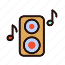 amplifier, bass, music, play, record, song, sound icon