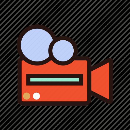 camera, capture, cinema, movie, old school, record, scene icon