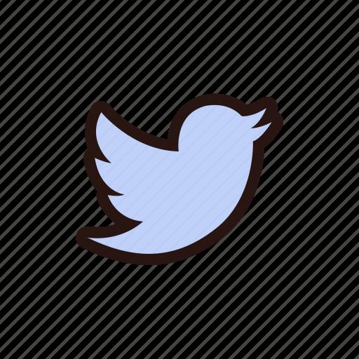animal, bird, blue, communication, message, tweet, twitter icon