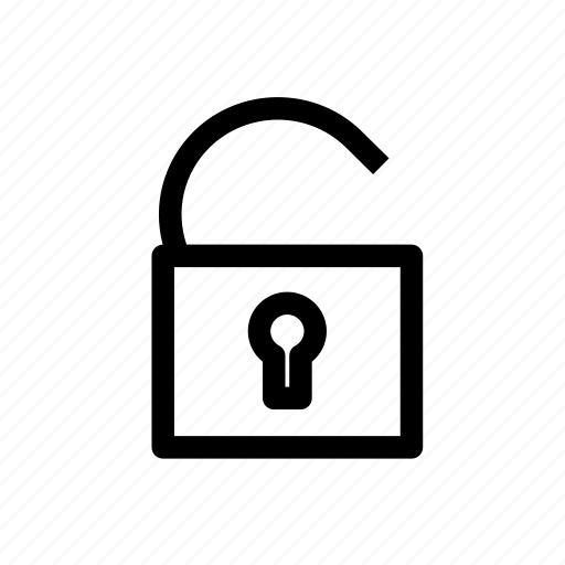 lock, open, password, protection, safety, secure, security icon