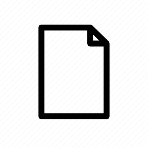blank, document, empty, paper icon