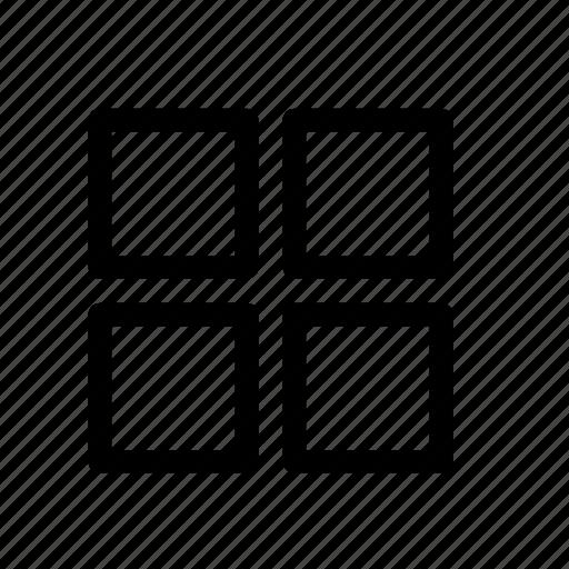 grid, grid view icon