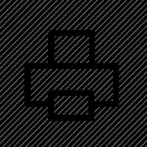 device, print, printer, technology icon