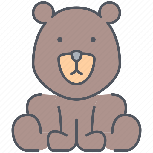 animal, bear, forest, grizzly, nature, teddy, wild icon