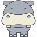 animal, forest, hippo, hippopotamus, kenya, nature, nile icon