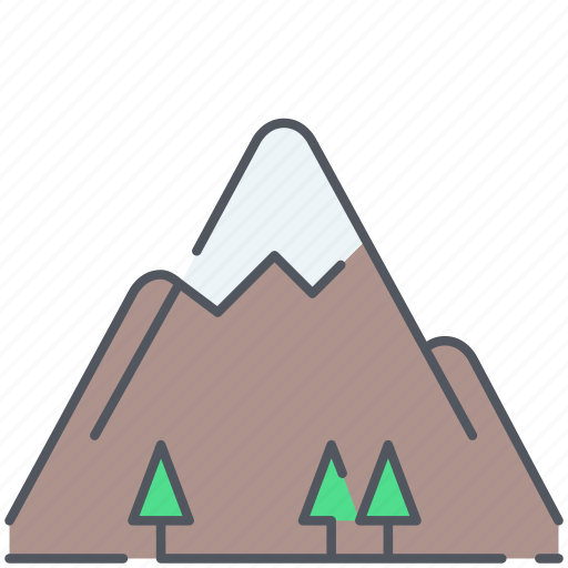 alpinism, forest, high, hills, landscape, mountain, nature icon