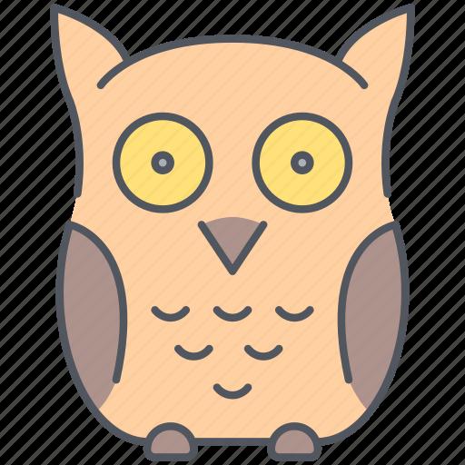 bird, education, forest, nature, night, owl, wisdom icon