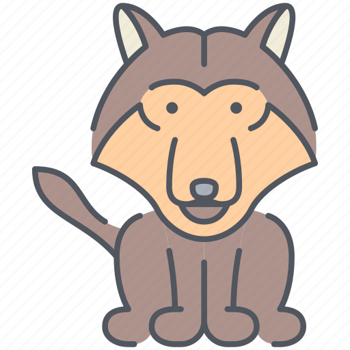animal, coyote, dog, forest, nature, wild, wolf icon