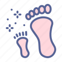child, day, footprint, mother icon