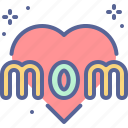 day, heart, love, mothers icon