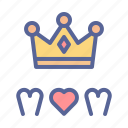 crown, mom, mother, queen icon