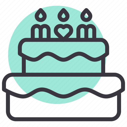 cake, celebrate, day, mothers icon