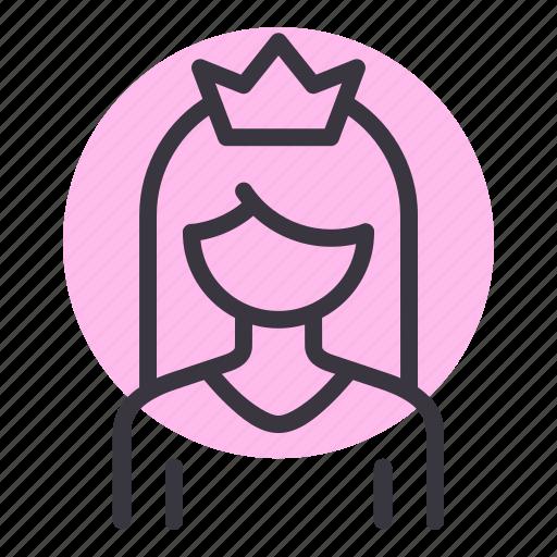 beauty, mom, princess, queen icon