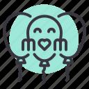day, celebration, mothers, balloon icon