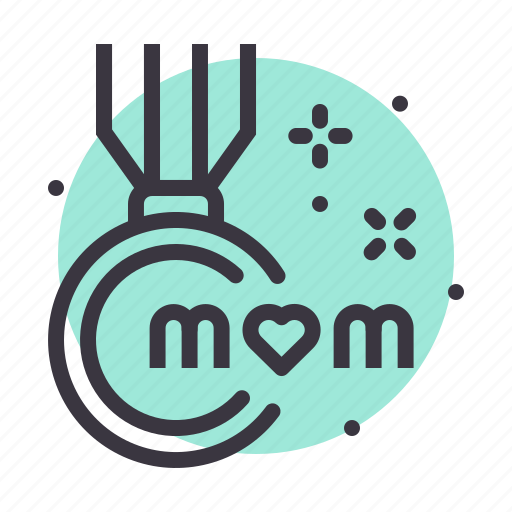 day, medal, mom, mothers icon