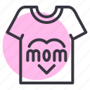 day, mothers, shirt, tshirt icon
