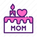 cake, candle, day, love, mother, tart icon