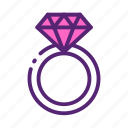 day, diamond, mother, ring icon