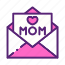 day, letter, love, mother icon