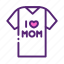 day, mother, shirt icon