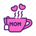 day, mother, tea icon