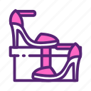day, female, heels, high, mother, shoes, woman icon
