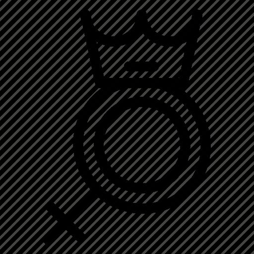 avatar, female, gender, princess, proud, queen icon
