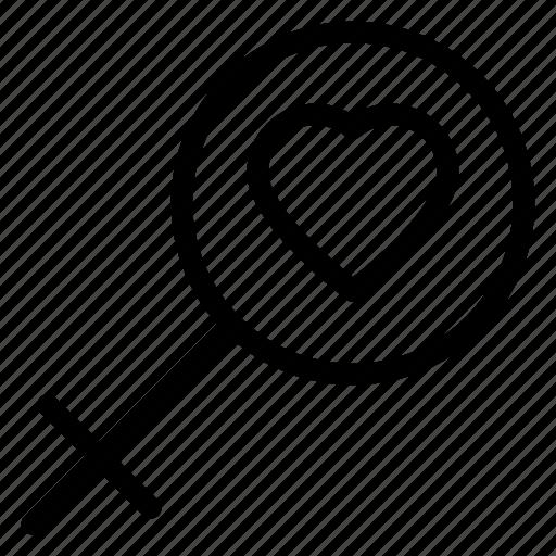 avatar, female, gender, girl, heart, user icon