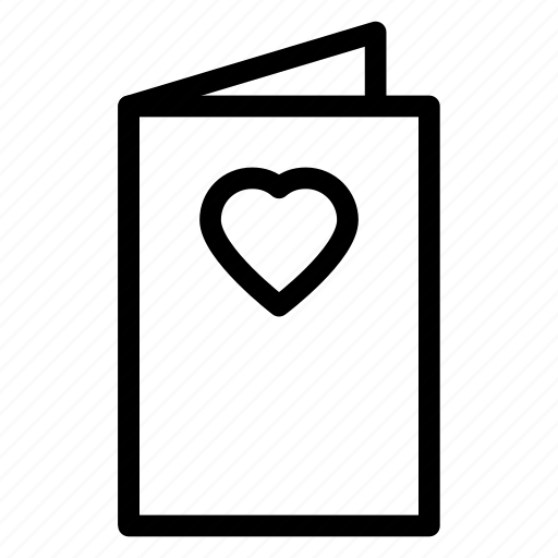 card, greeting, heart, payment, wishing icon