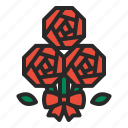 bouquets, flower, love, mothersday, presents, rose, valentines day icon