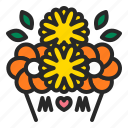bouquets, flower, gift, mothersday, presents icon