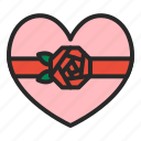 birthday, heart, love, mothersday, presents, rose, valentines day icon
