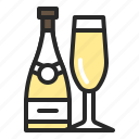 alcohols, champagne, drink, mothersday, valentines day icon
