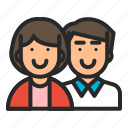 couple, family, husband, lovers, mother, mothersday, parents icon