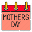 calender, day, gift, mom, mothers, mothers day