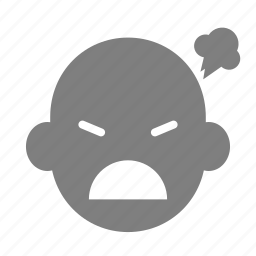 angry, animation, emoticon, expression, face, motion, reaction icon